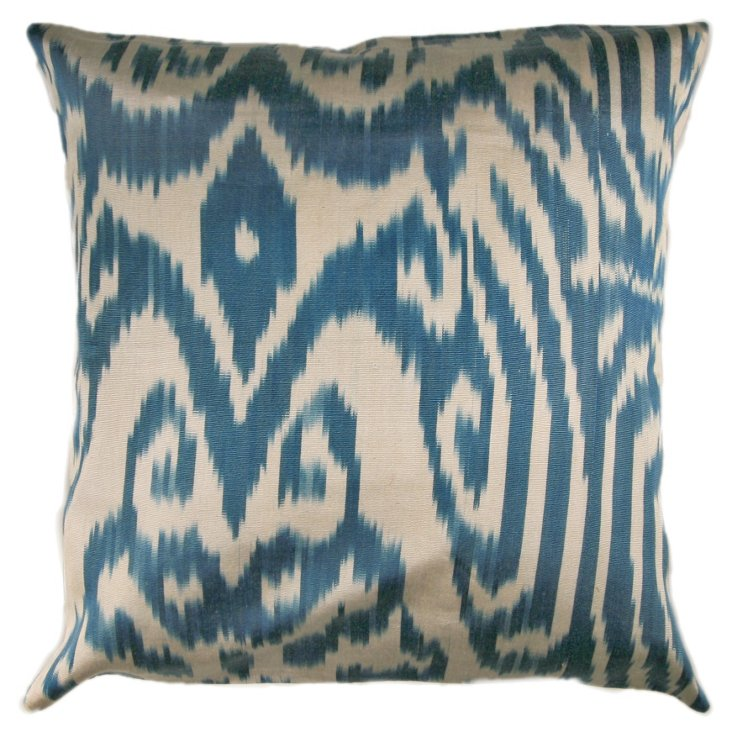 Paleo 18x18 Pillow, Light Blue