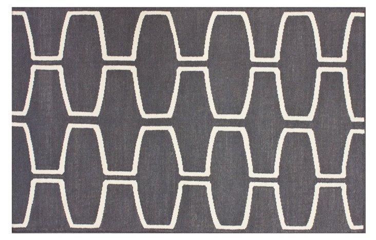 Hudson Flat-Weave Rug, Gray