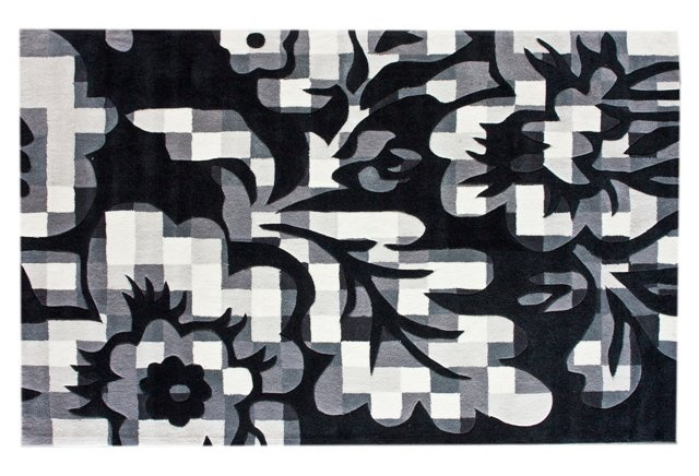Mosaik Rug, Black/White