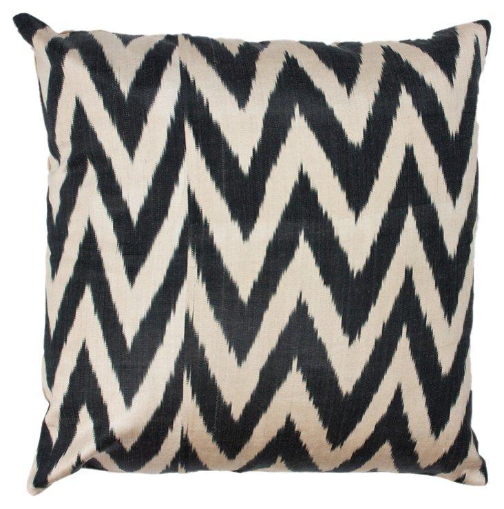 Chevron 18x18 Pillow, Black