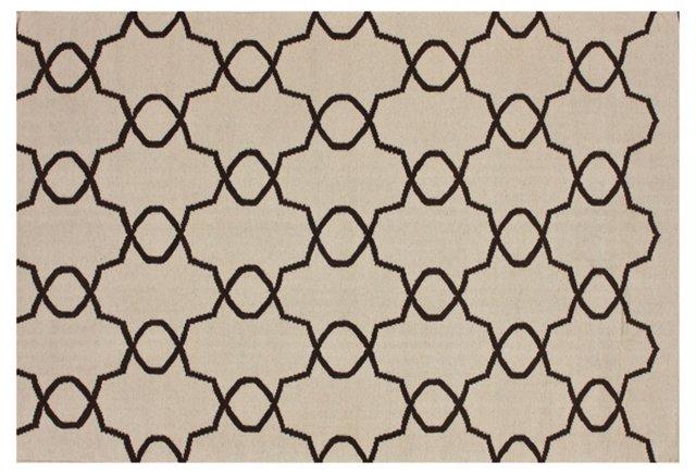 Elmer Flat-Weave Rug, Cream