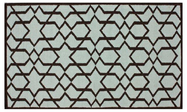 Tayden Flat-Weave Rug, Blue