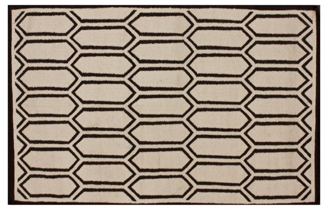 Dylan Flat-Weave Rug, Oatmeal/Mocha