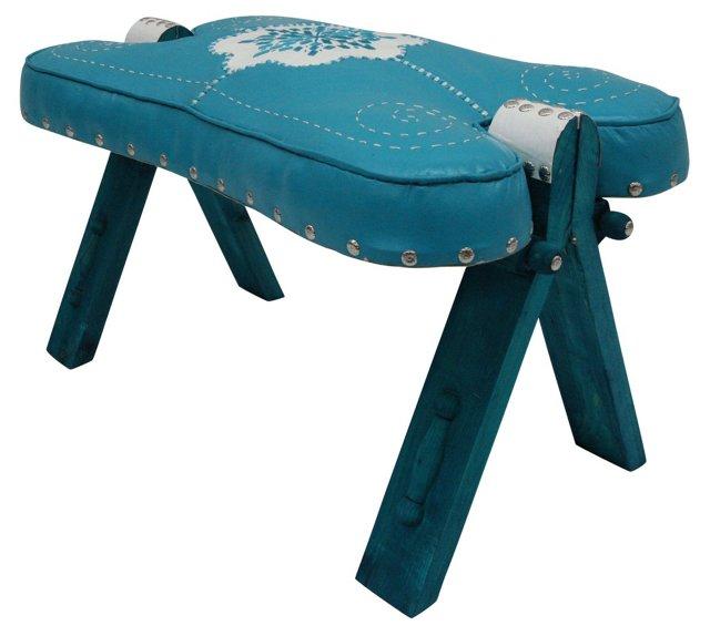 Moroccan Stool, Blue