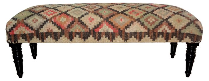 Navajo Upholstered Wooden Bench