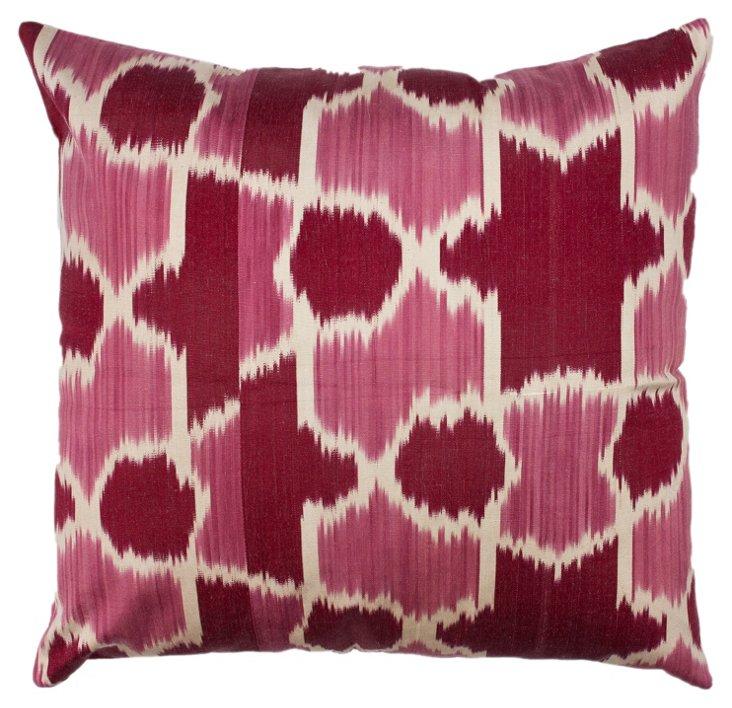 Ikat Geo 18x18 Pillow, Dragon Fruit