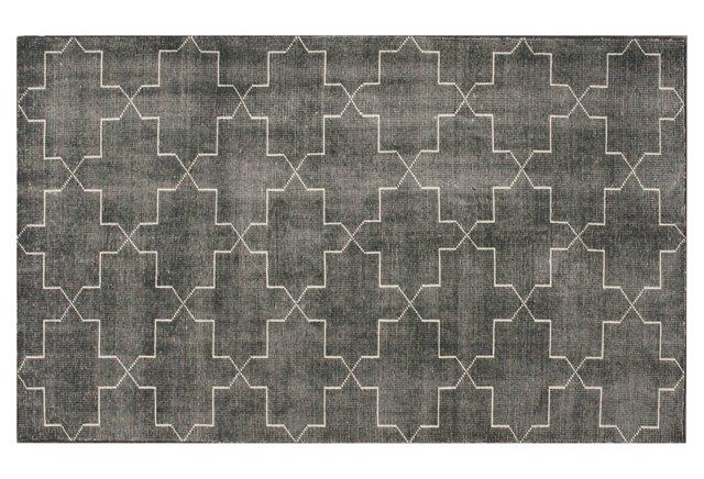 Jelena Flat-Weave Rug, Charcoal