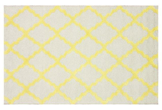 Addor Rug, Gray/Yellow