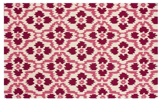 Jevon Rug, Ivory/Pink/Berry