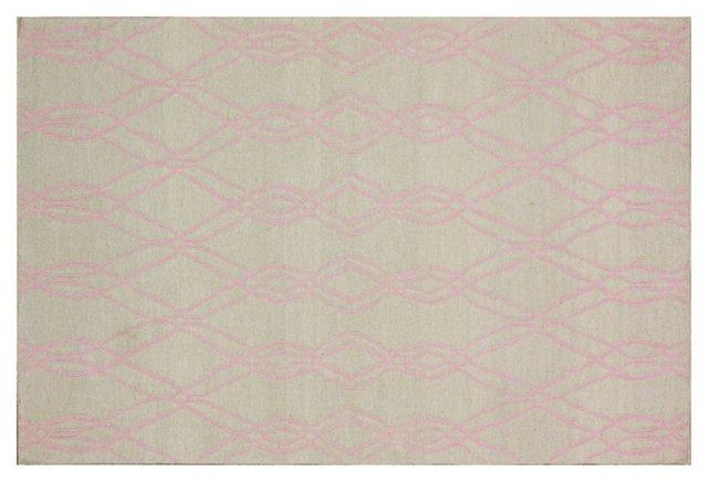 Denzel Flat-Weave Rug, Light Pink/Muslin