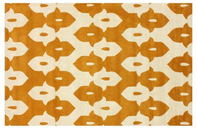 5'x8' Keyne Rug, Mustard/Cream
