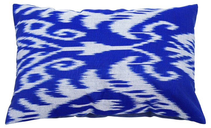 Ikat 13x20 Decorative Pillow, Blue