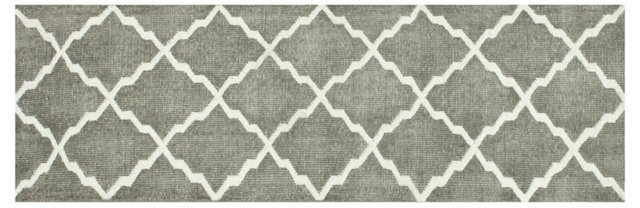 Tribble Flat-Weave Runner, Gray