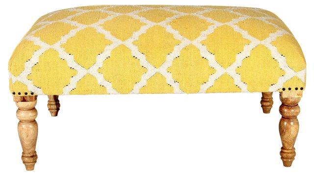 Bellina Trellis Bench, Yellow