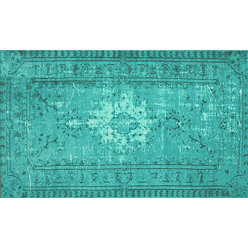 Bess Overdyed Rug, Emerald
