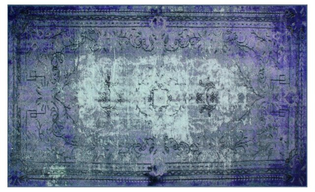 Bidu Rug, Purple/Aqua/Gray