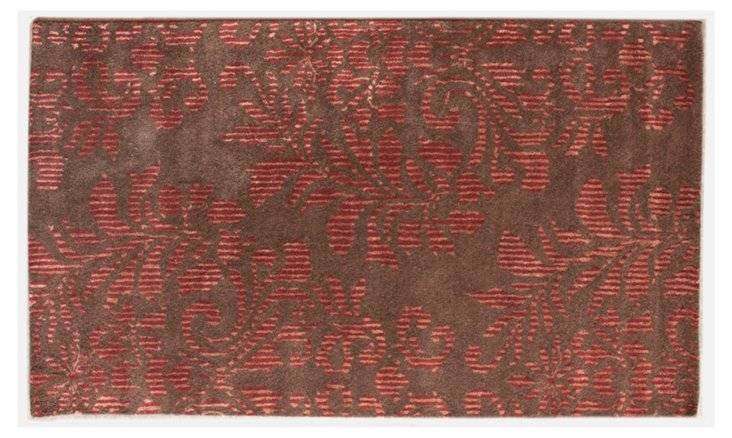 Damask Rug, Copper Red/Brown