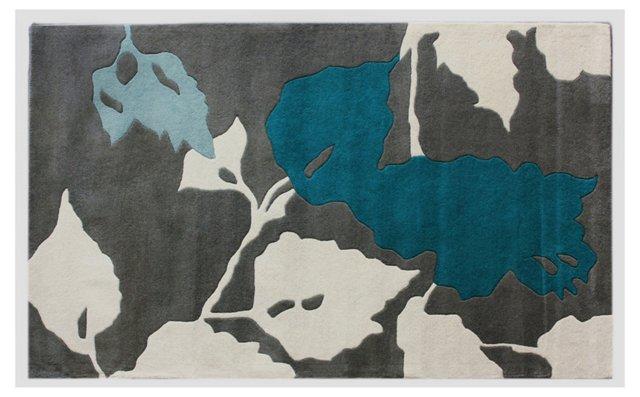 Flory Rug, Gray/Blue