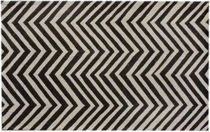 "2'6"" x 10' Skylar Runner, Black/Gray"