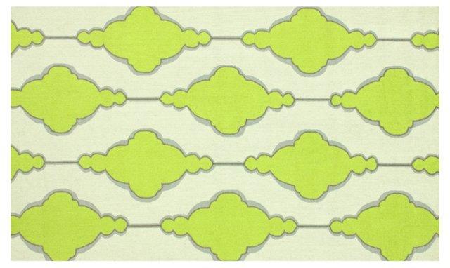 Trellis Rug, Ivory/Lime