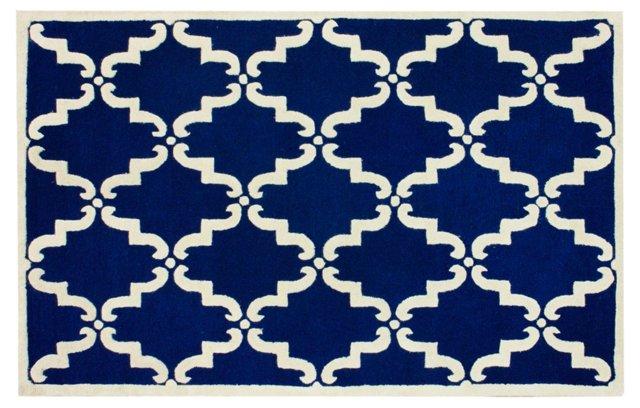 Dalia Trellis Rug, Royal Blue