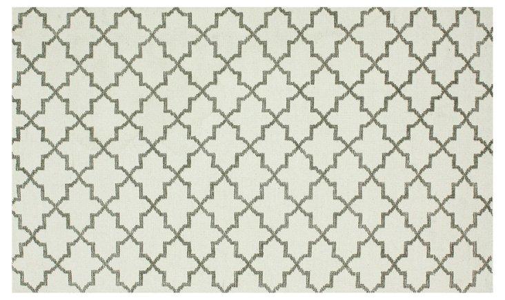 Abbey Flat-Weave Rug, Ivory