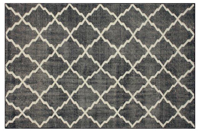 Tribble Flat-Weave Rug, Navy