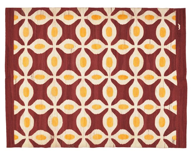 """6'x7'10"""" Kabul Flat-Weave Rug, Brick"""