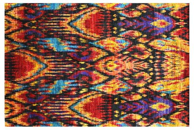 Silk Ikat Rug, Multi