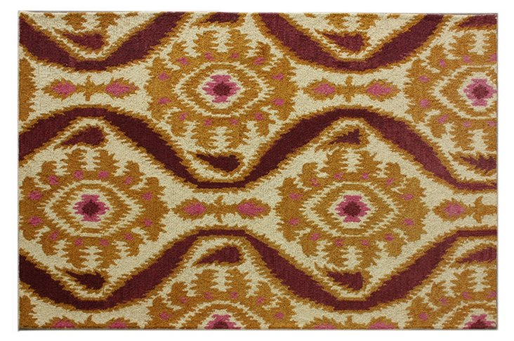 Spectrum Rug, Gold/Plum