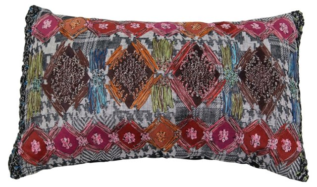 Harvest 12x20 Embroidered Pillow, Multi