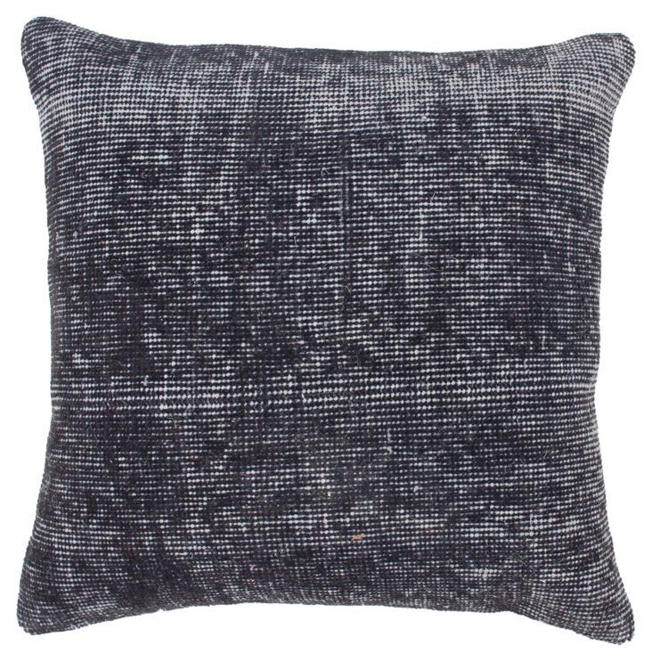 Everest 18x18 Wool Pillow, Pewter