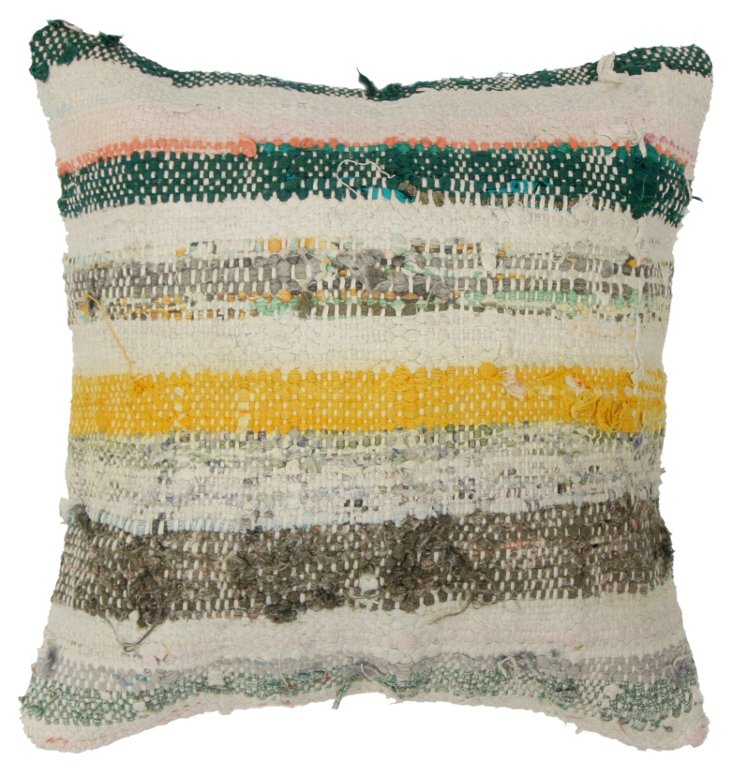 Morocco 16x16 Wool Pillow, Multi