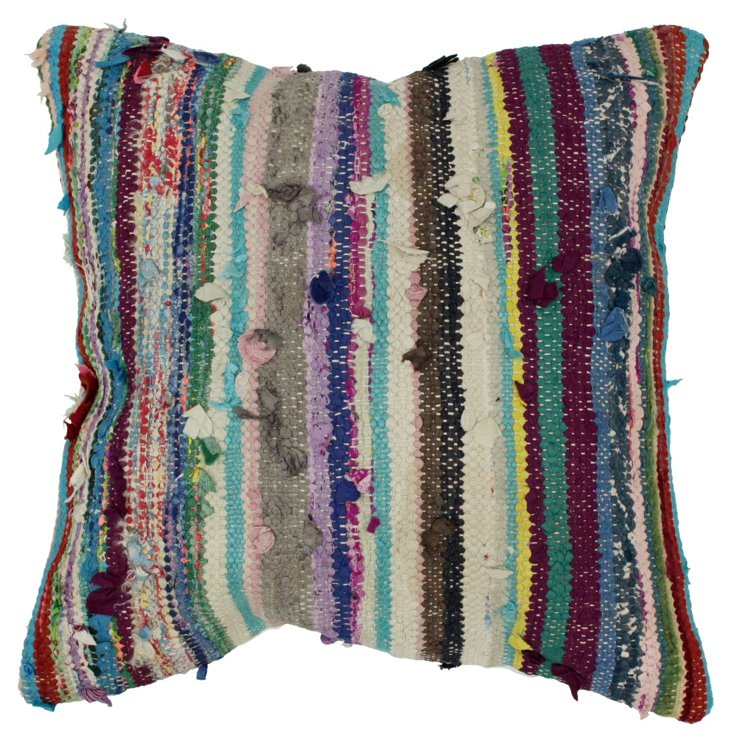Bangkok 20x20 Wool Pillow, Multi