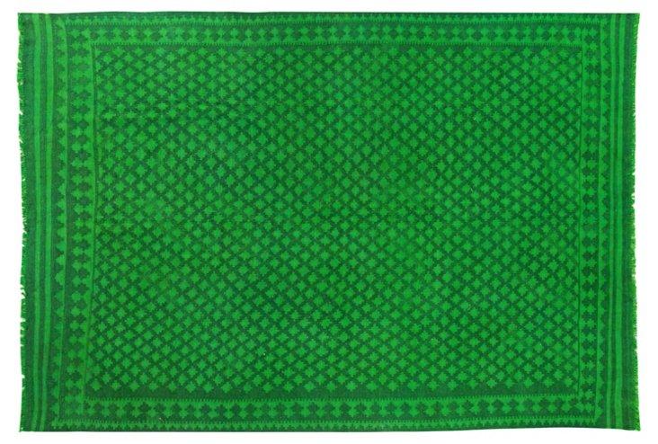 "6'10""x9'9"" Milberg Flat-Weave Rug, Grass"