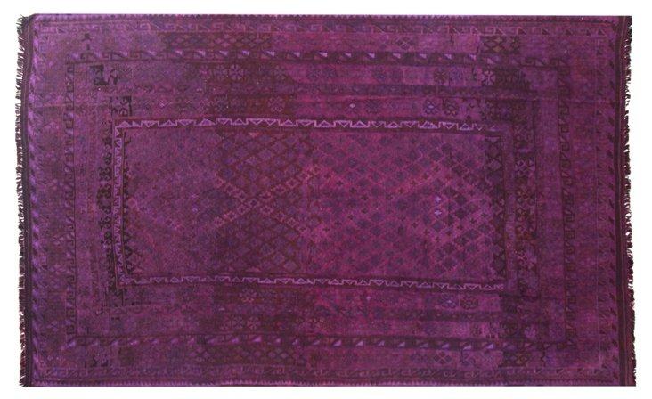 "6'9""x11'1"" Lucill Flat-Weave Rug, Purple"