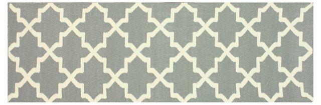 """2'6""""x8' Tonra Flat-Weave Runner, Gray"""