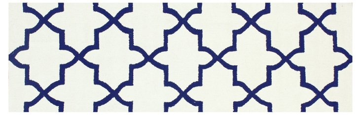 Noe Trellis Rug, Ivory/Navy