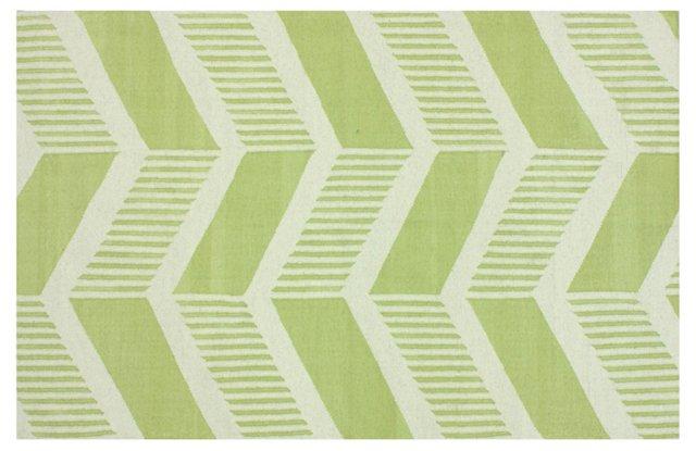 Daila Flat-Weave Rug, Green