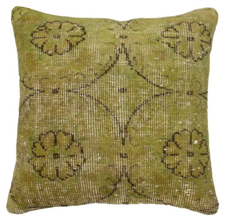 Overdyed 20x20 Pillow, Green