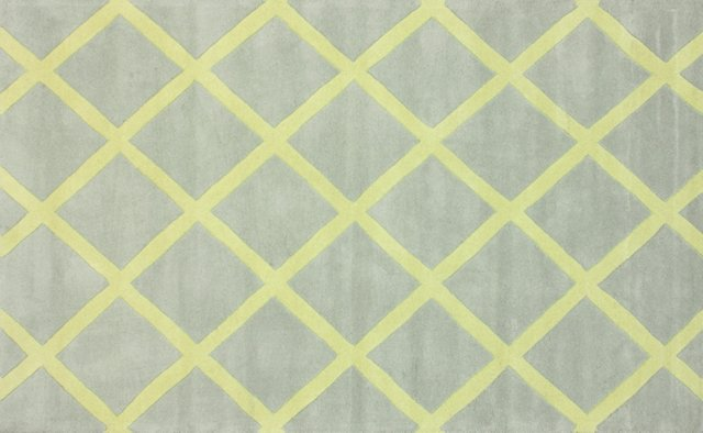 "7'6""x9'6"" Tamisin Rug, Gray/Yellow"