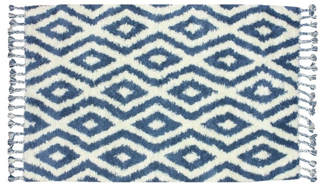 5'x8' Alison Rug, Blue