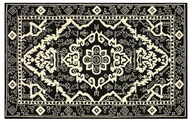 5'x8' Frances Rug, Black