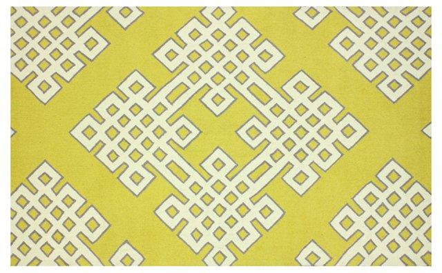 """7'6""""x9'6"""" Adrien Rug, Gold"""