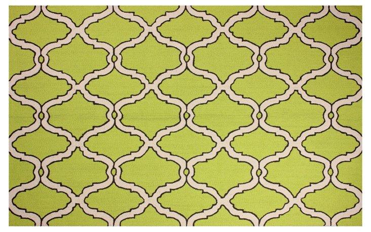 5'x8' Hanna Rug, Green