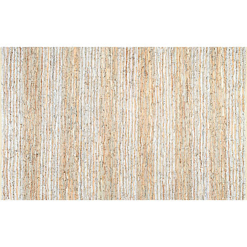 Renee Flat-Weave Rug, Beige/Cream