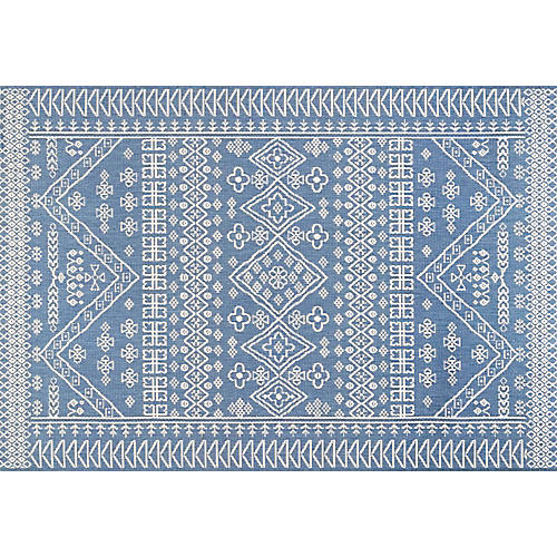 Dacen Outdoor Rug, Blue