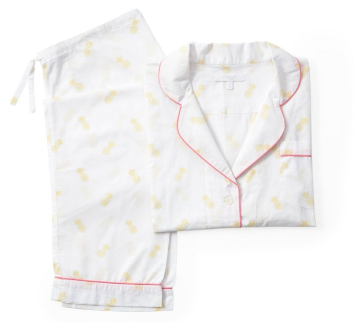 Pineapple Long Pajama Gift Set, Melon