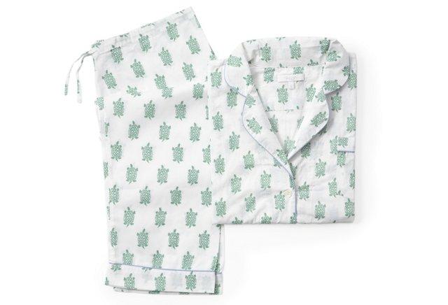Turtle Long Pajama Gift Set, Apple