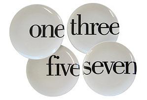 S/4 Odd-Number Salad Plates